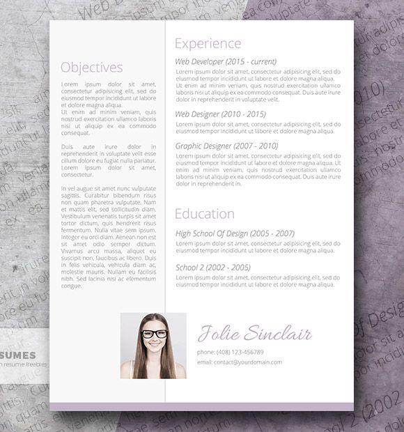 Suave y dulce diseño de currículum gratis