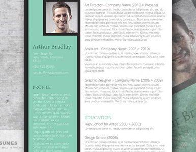 The Artistic Jobseeker - Una plantilla de CV creativa gratis