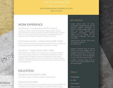 Plantilla CV gris oscuro y amarilla gratis | Modern Mustard Splash