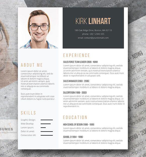 Plantilla de resumen profesional gratuita   The Clean Headshot
