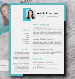 Colores y formas | Una plantilla de currículum vitae gratis