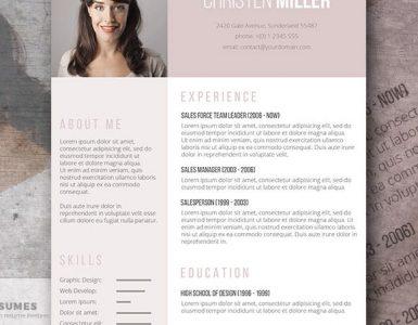 Plantilla de Currículum Vitae gratis para las damas - The Vintage Rose