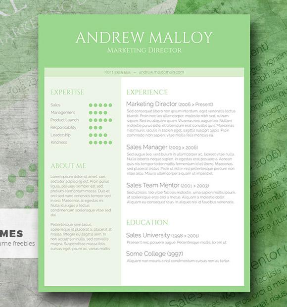Plantilla de CV creativa gratuita - Simple Green