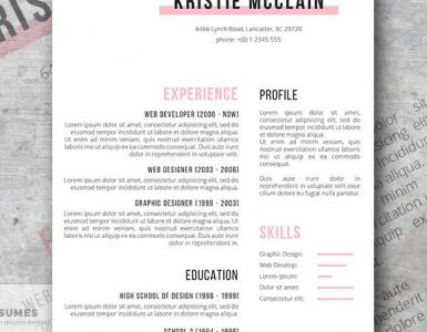 Elegant Resume Template Freebie | Crisp and Clean
