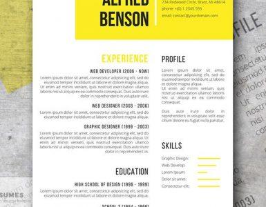 Electric Yellow | Una plantilla de currículum vitae creativa y gratuita para Word