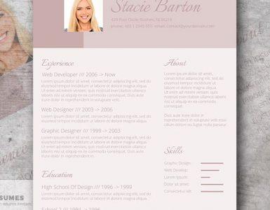 Diseño de CV para la candidata - Para las mujeres!