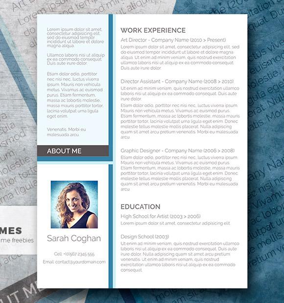 A Splash of Blue - El diseño moderno y gratuito del currículum vitae