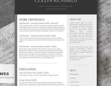 Simple pero de moda - La plantilla de currículum vitae moderna y gratuita
