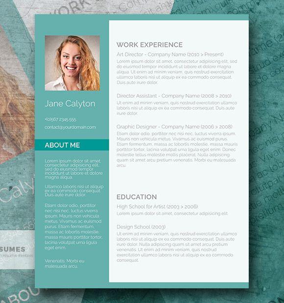 Classy Emerald - Una plantilla de currículum vitae de palabras elegantes gratis