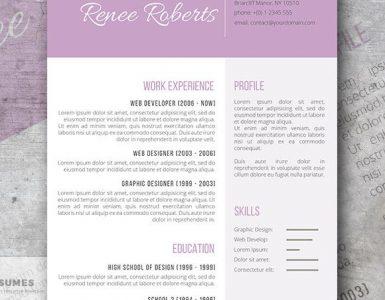 Curriculum Vitae de la Semana | Lilac Beauty