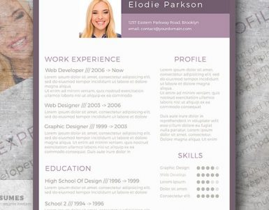 Plain in Purple - The Free Resume Design that Pops!