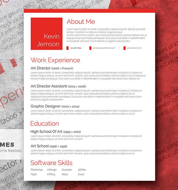 Creative in Red - Una Plantilla CV Elegante y Libre
