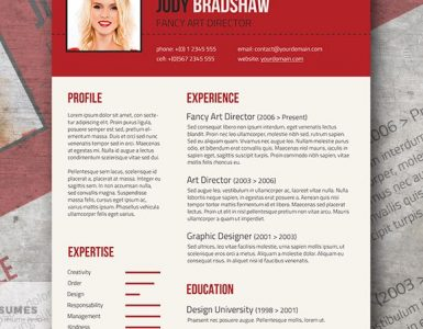 Fancy Resume Template for Free | Rubicund Headliner
