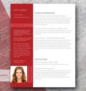 Plantilla de Currículum Vitae gratis con un estilo moderno | Roaring Red