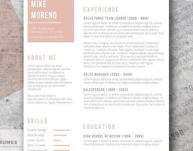 Curriculum Vitae Oro Rosa | La Plantilla Gratuita de la Semana