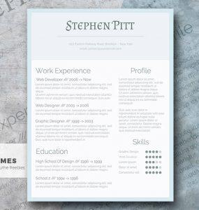 El diseño simplificado de currículum vitae gratuito