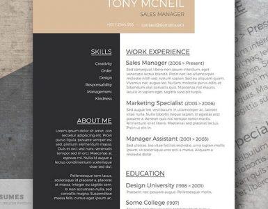 Ejemplo de Curriculum Vitae Profesional Gratuito | Smart Jobseeker