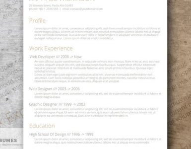 Crafty and Casual - A Smart Resume Template for Free