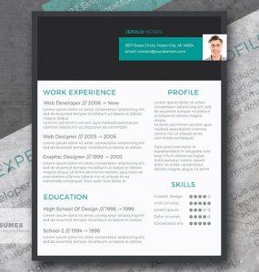 Diseño Moderno de Curriculum Vitae gratis | Cabecera con estilo