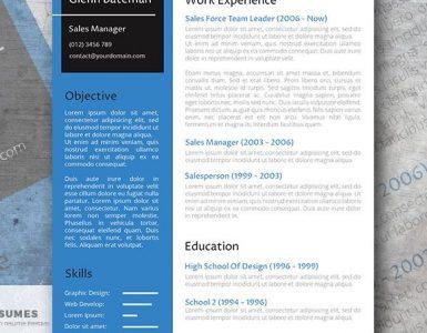 El Candidato de la Primera Fila - Plantilla de Curriculum Vitae Profesional Gratuita
