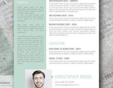 Diseño gratuito de plantillas de currículum vitae al revés