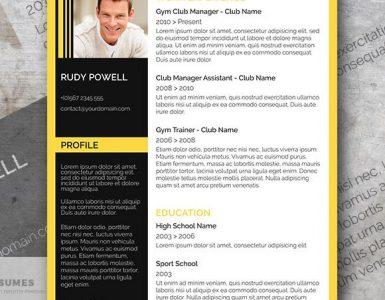 Acabado Amarillo Negro - Una Plantilla de Curriculum Vitae Gratuita que los Solicitantes deben tener